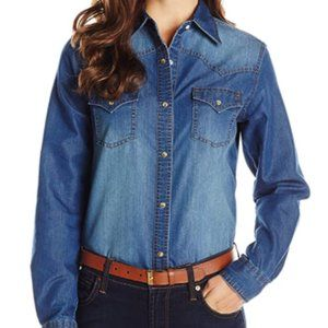 Women's blue denim